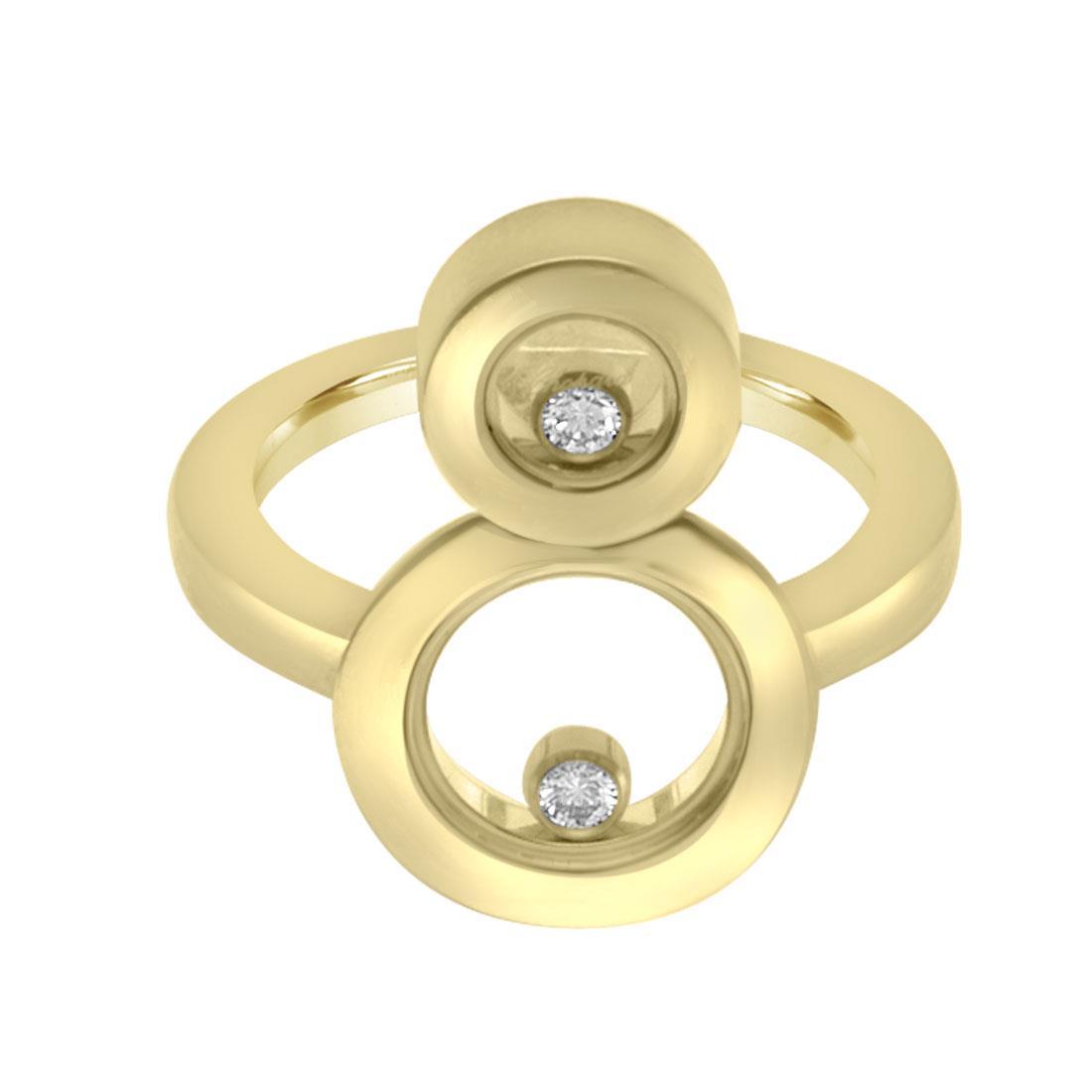 Anello in oro rosa con diamanti ct 0.10, misura 13 - CHOPARD