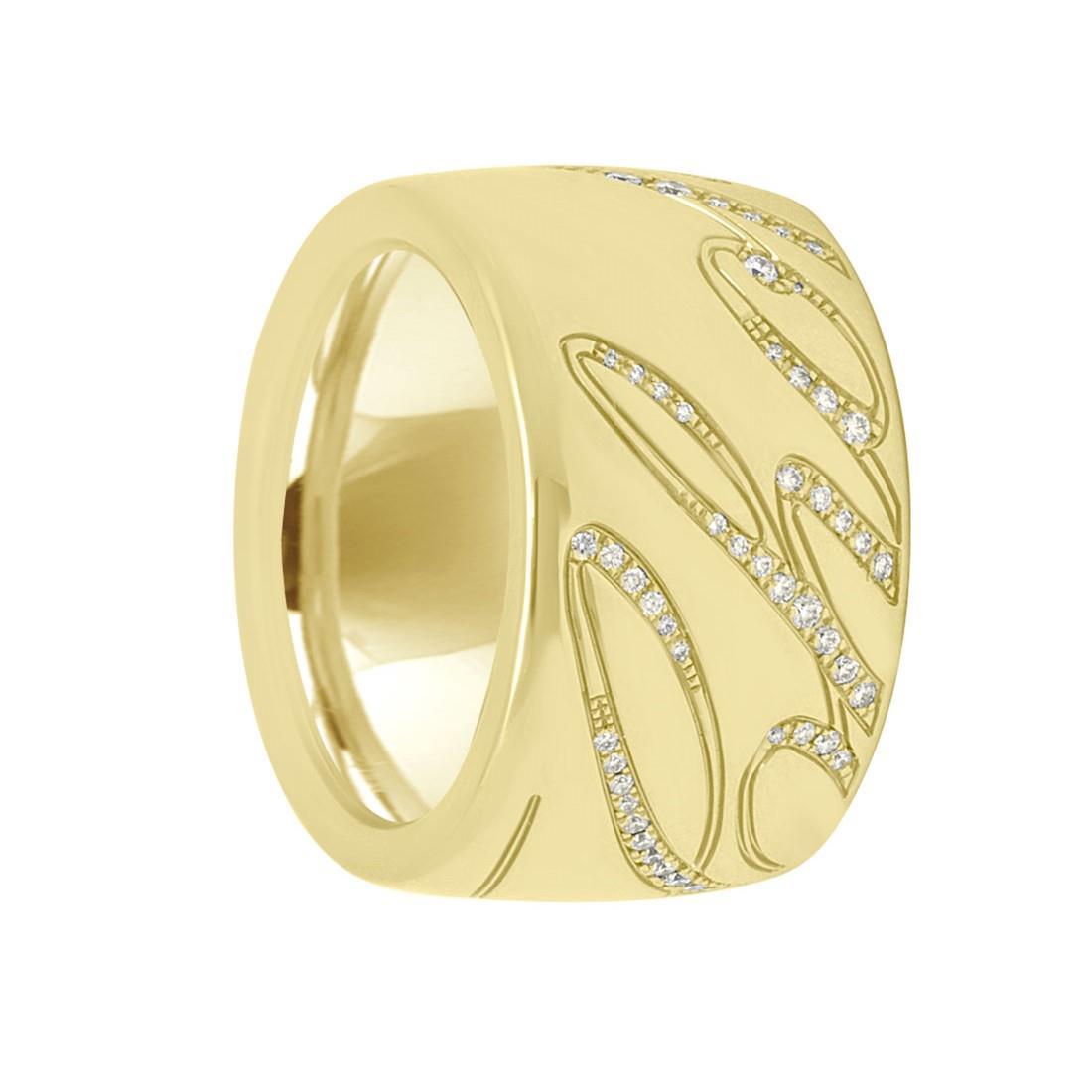 Anello in oro rosa con diamanti ct 0.35, misura 15 - CHOPARD