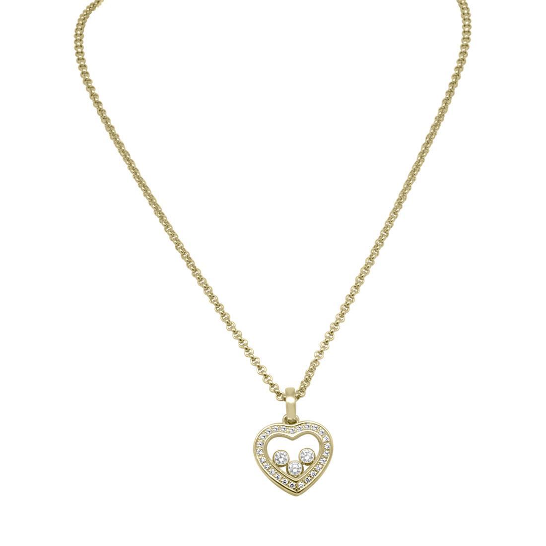 Collana in oro giallo con diamanti ct 0.27 - CHOPARD