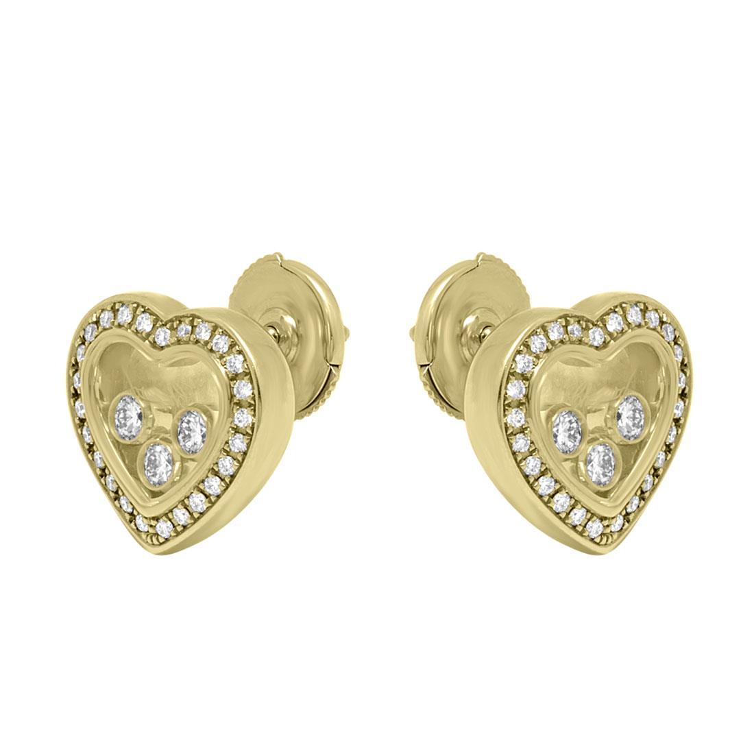 Orecchini in oro giallo con diamanti ct 0.54 - CHOPARD
