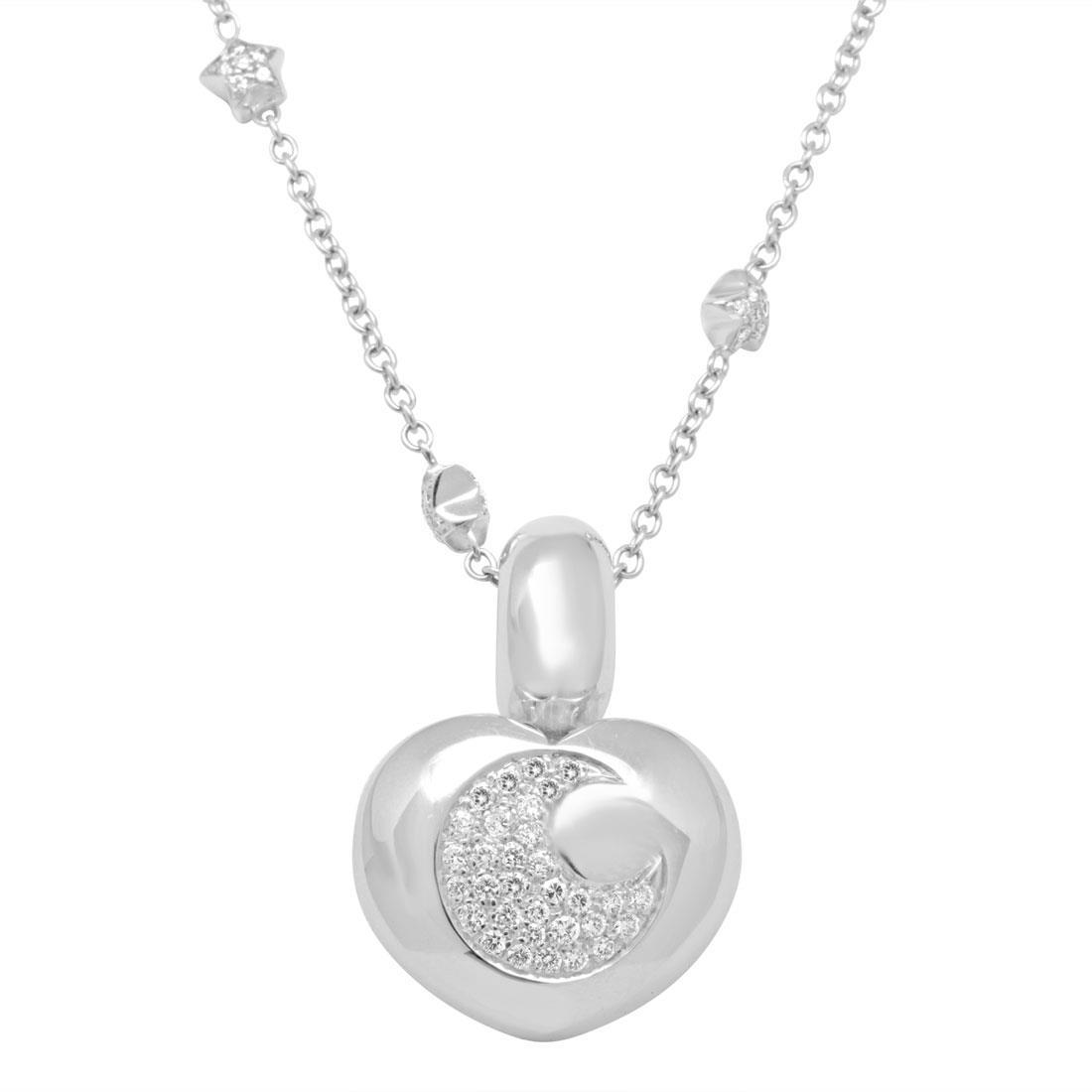 Collana in oro bianco con diamanti 1.85 ct - PASQUALE BRUNI
