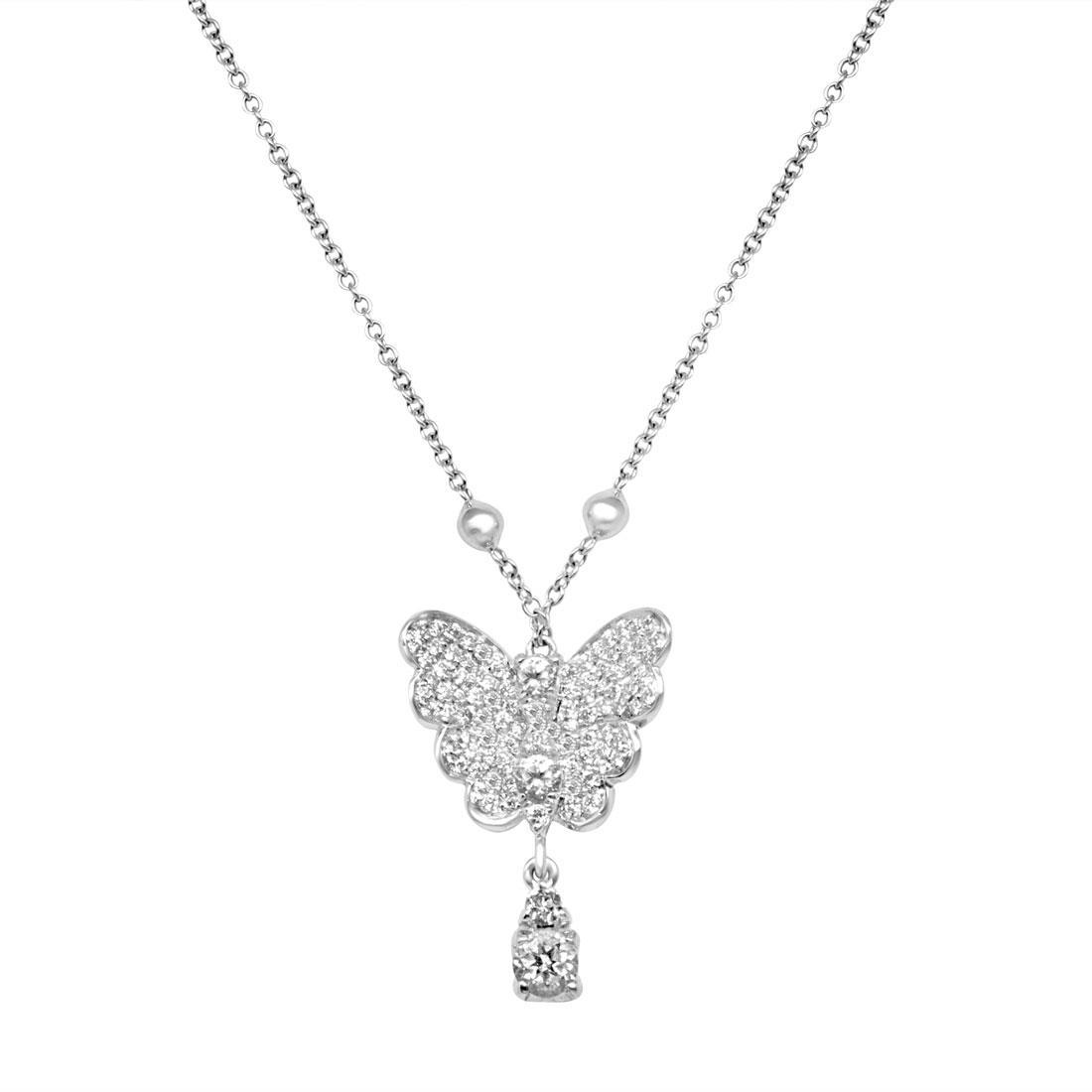 Collana in oro bianco con diamanti - PASQUALE BRUNI