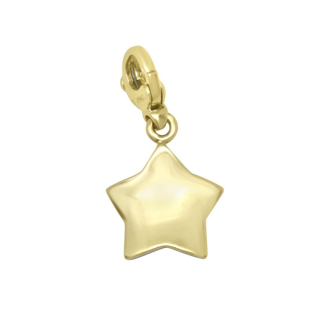 Ciondolo stella in oro giallo e rubino - PASQUALE BRUNI