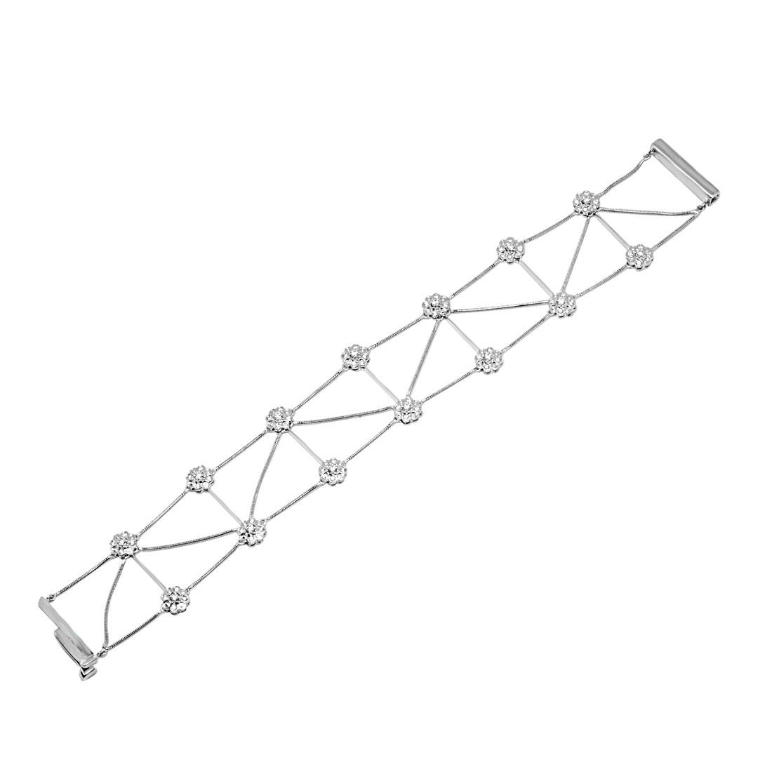 Bracciale Damiani in oro bianco con diamanti ct 0,69  - DAMIANI