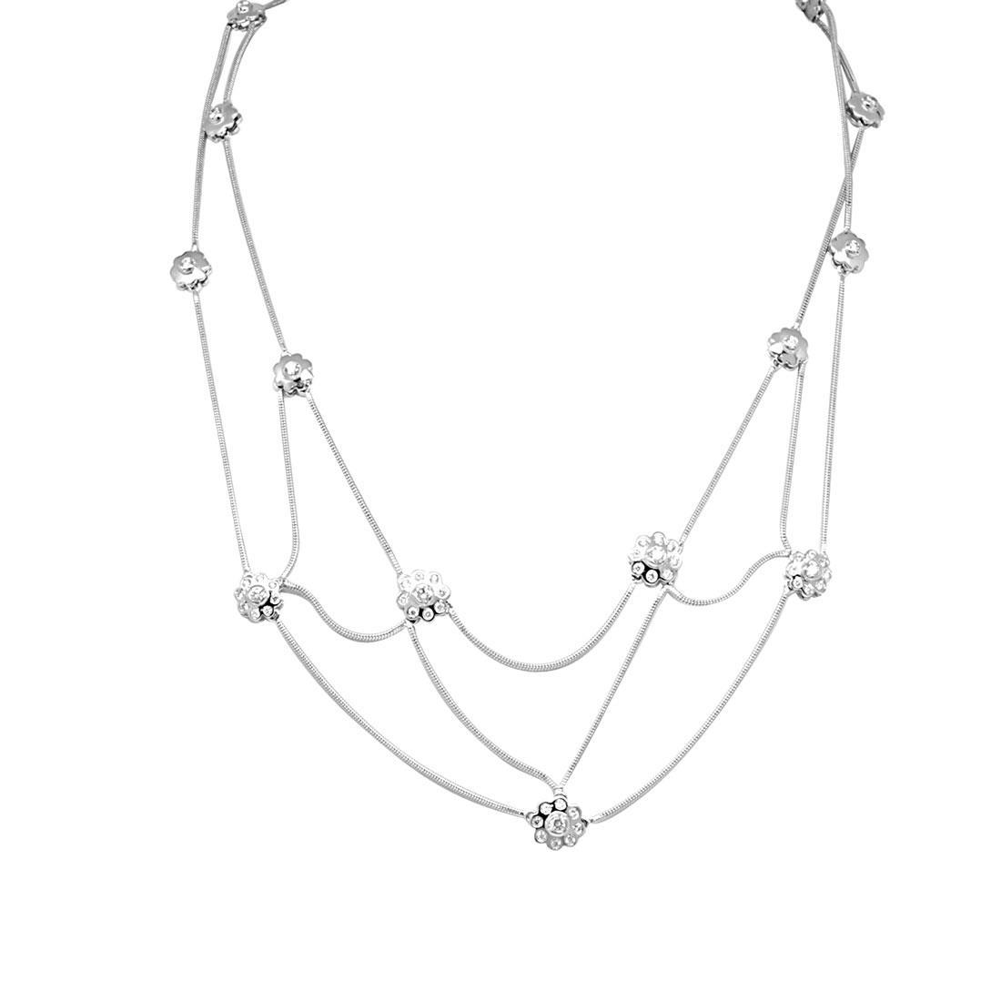 Collana Damiani in oro bianco con diamante ct 0,67 - DAMIANI