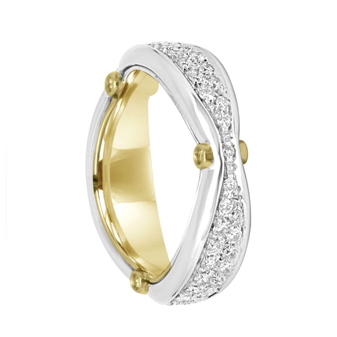 Anello Damiani in oro giallo e bianco con diamanti ct 0,66  - DAMIANI