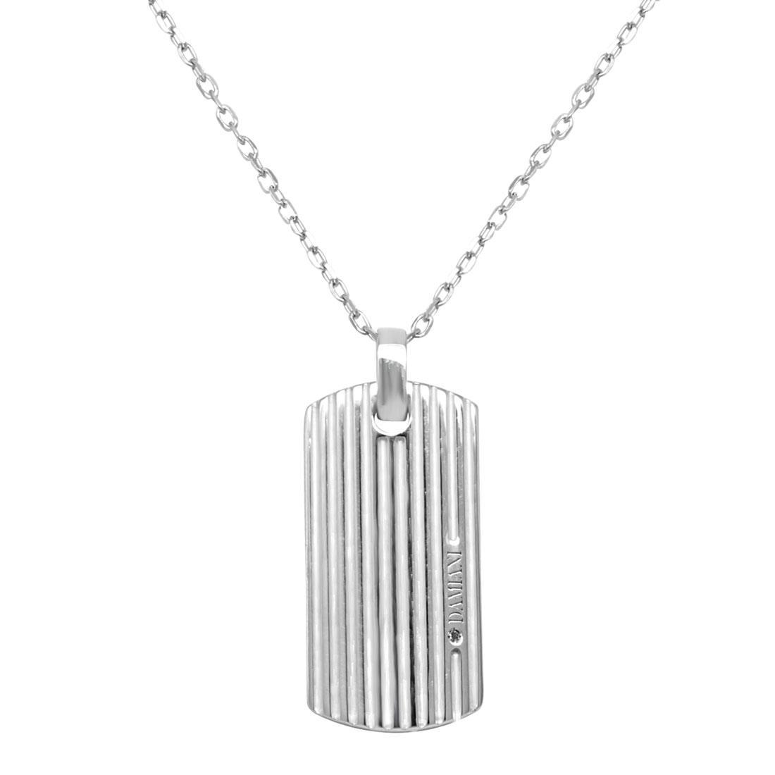 Collana Damiani in argento con diamante ct 0,008 - DAMIANI