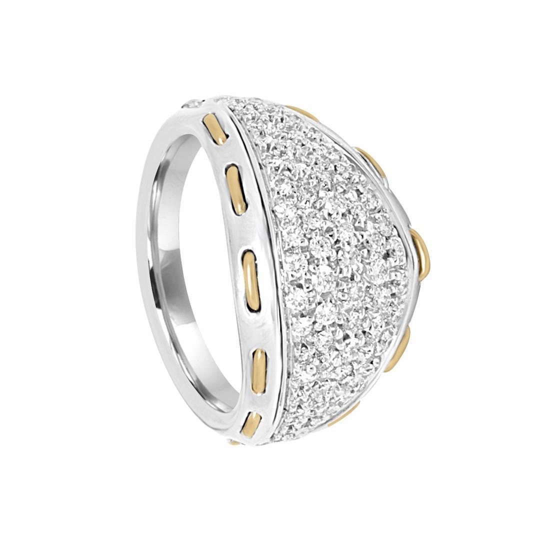 71486f1dd2 Anello Damiani in oro bianco e oro giallo con diamanti ct 0,72 ...