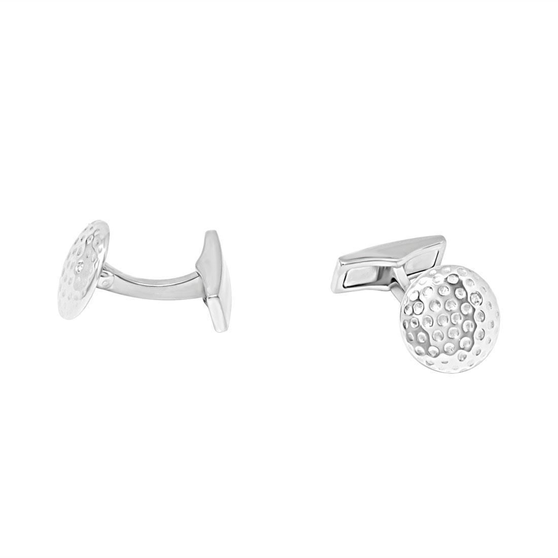 Gemelli Damiani in argento e acciaio con diamante ct 0,01 - DAMIANI