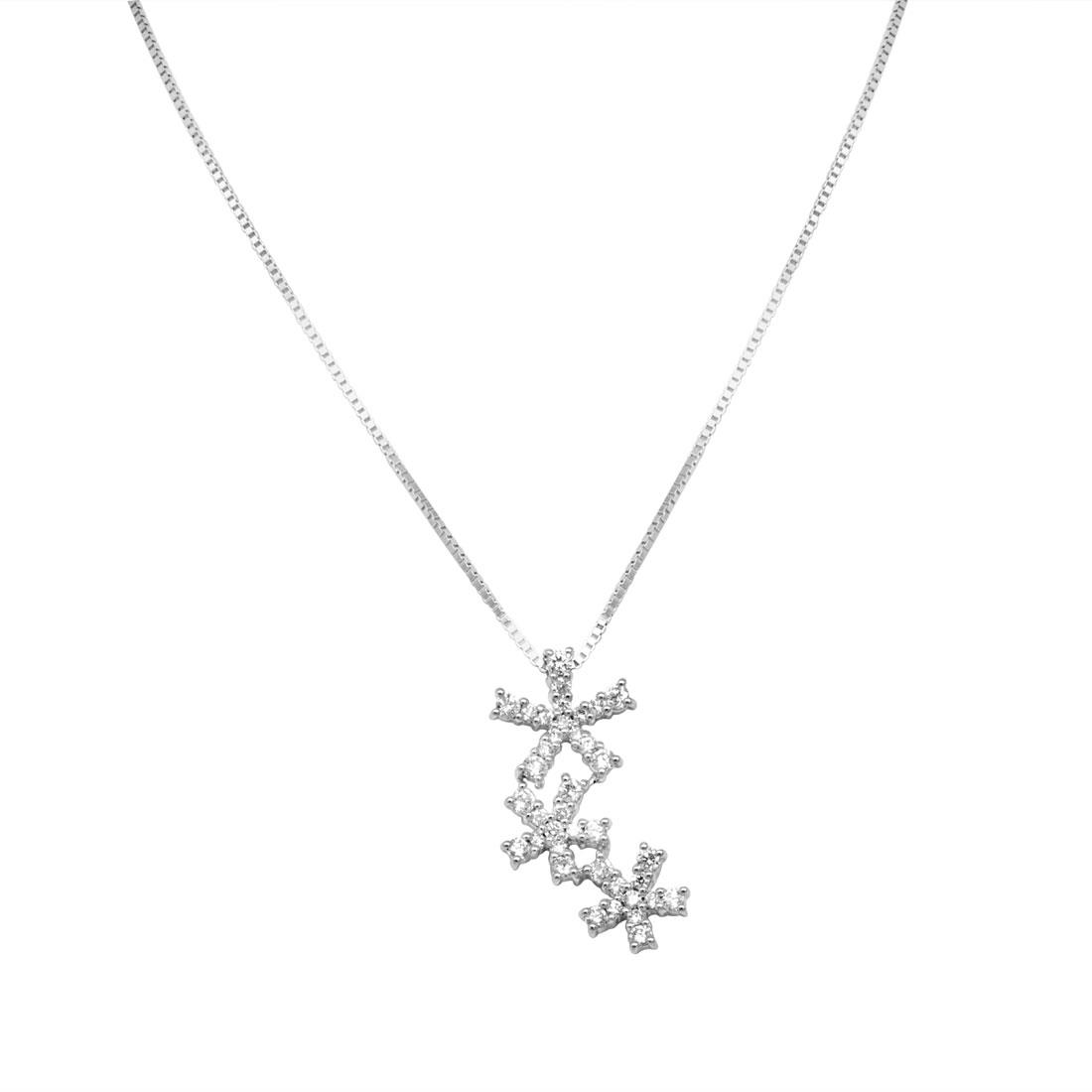 Collier Damiani in oro bianco con diamanti ct 0,84 - DAMIANI