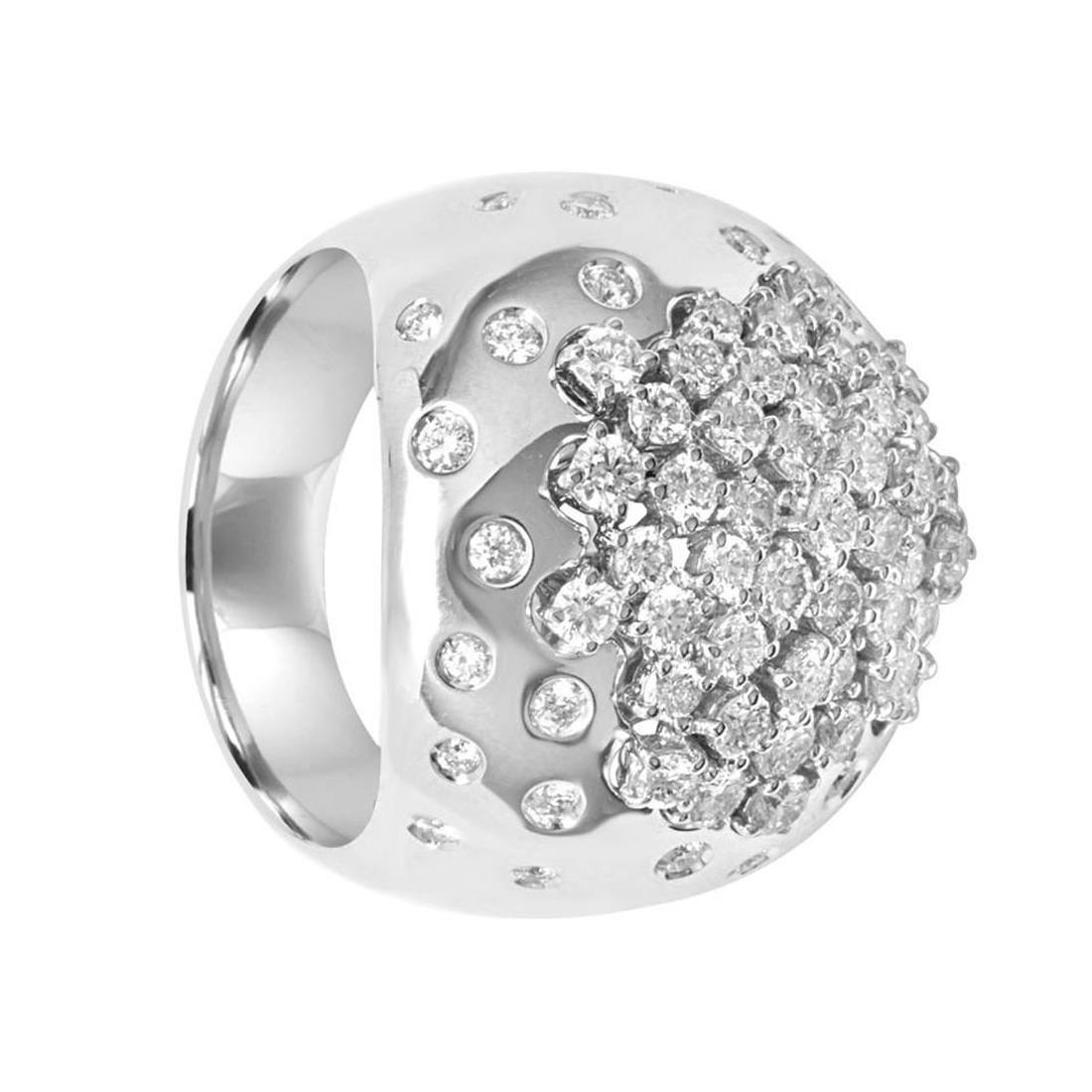 Anello Damiani Paradise in oro bianco con diamanti ct 1,7 - DAMIANI