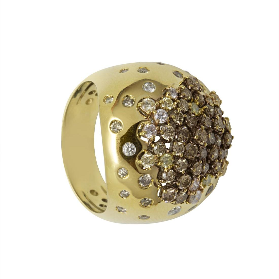 Anello Damiani Paradise in oro giallo con diamanti ct 1,84 - DAMIANI