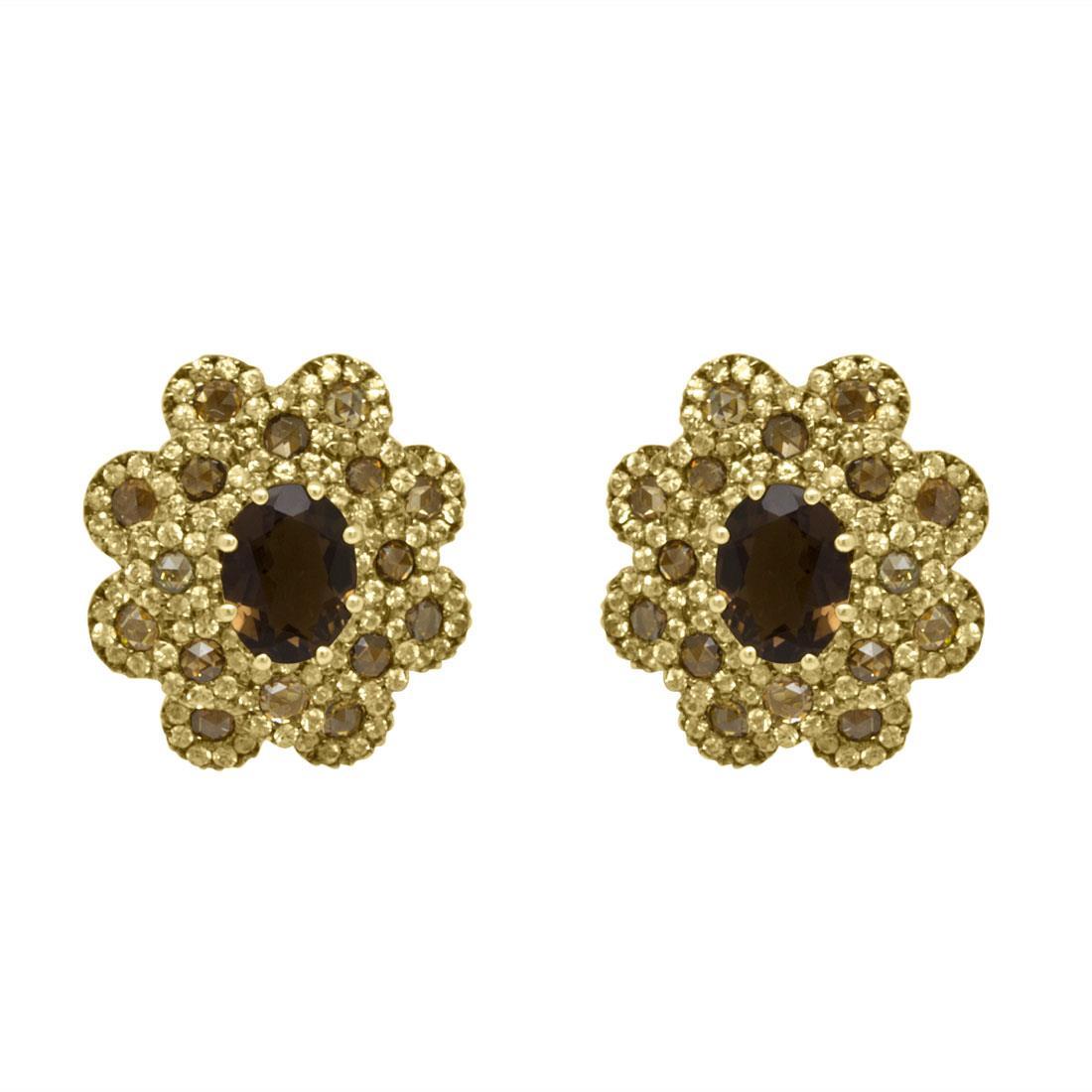 Orecchini Damiani oro giallo con diamanti ct 1,16 - DAMIANI