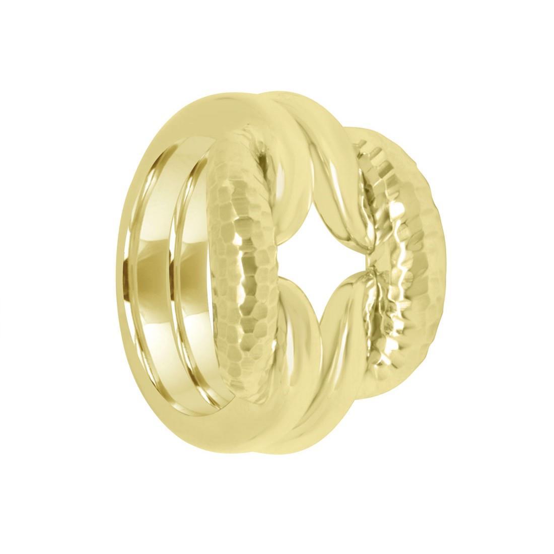 Anello Damiani Lace in oro giallo con diamanti ct 0,05 - DAMIANI