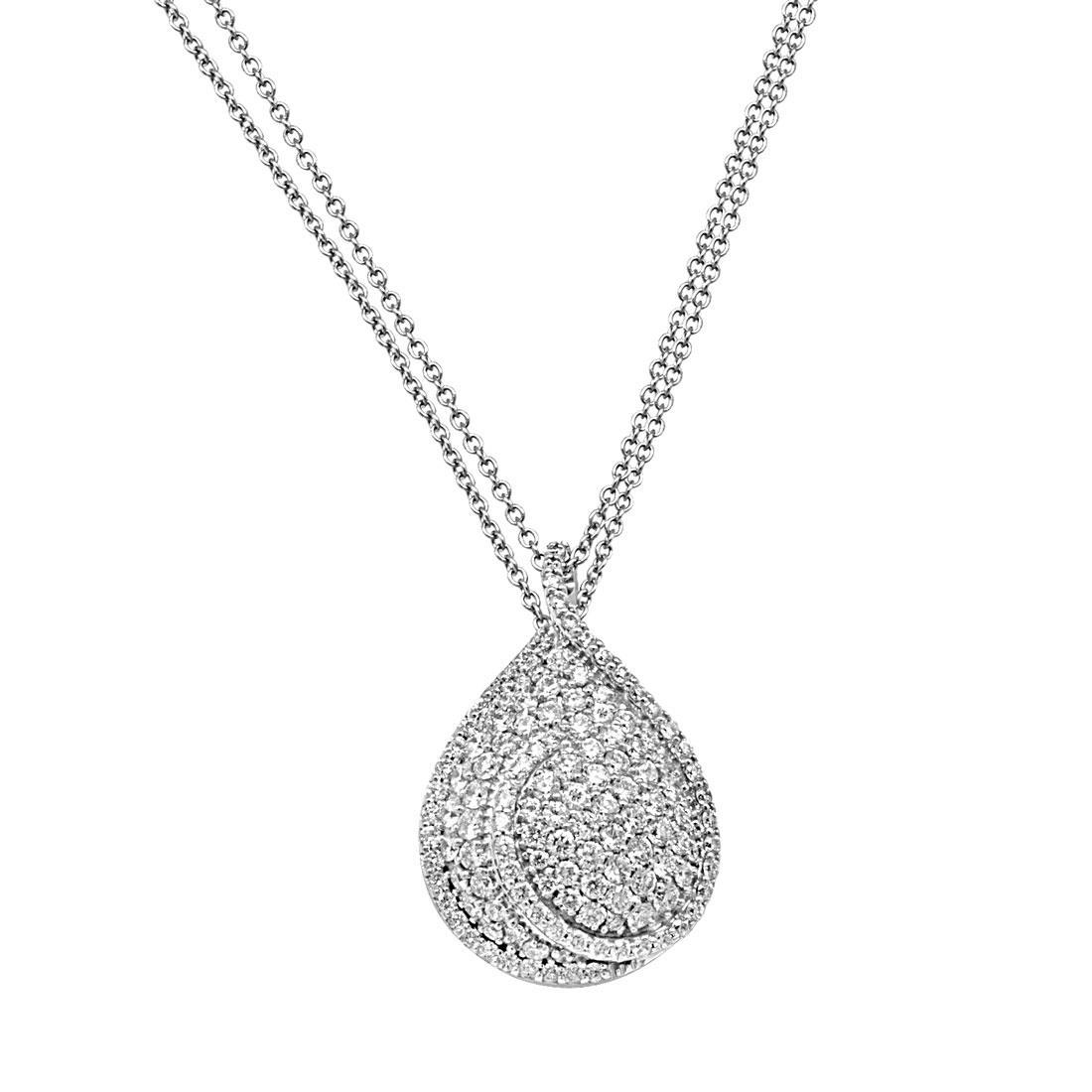 Collana in oro bianco con diamanti - SALVINI
