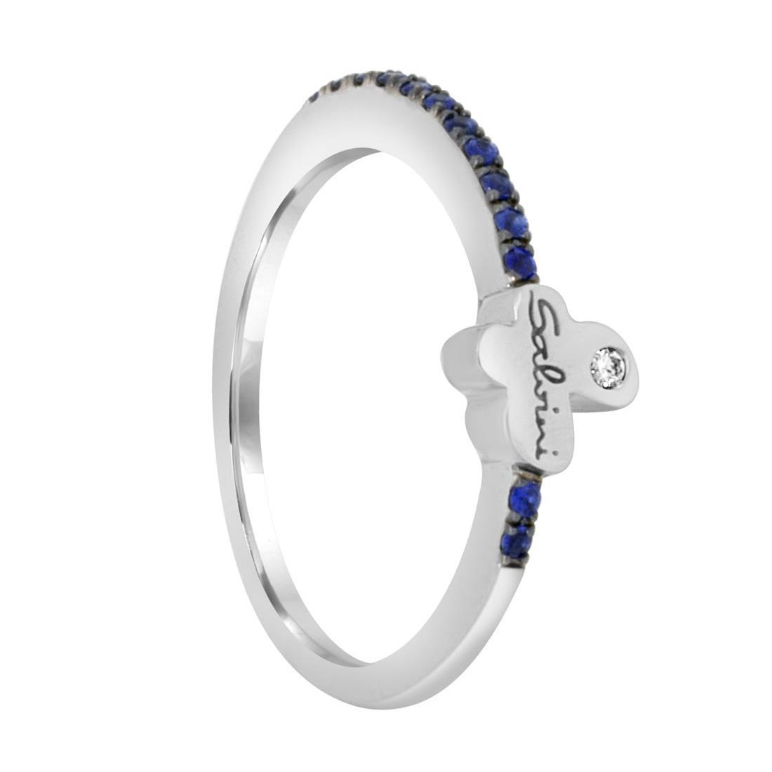 Anello con diamanti e zaffiri - SALVINI