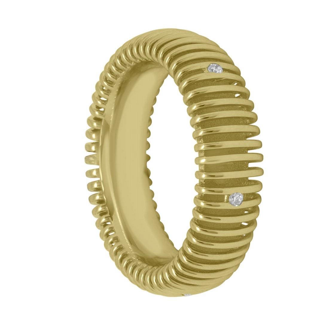 Anello in oro giallo con diamanti mis 15 - SALVINI