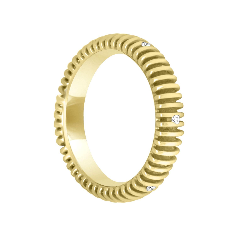 Anello in oro giallo e diamanti misura 13 - SALVINI