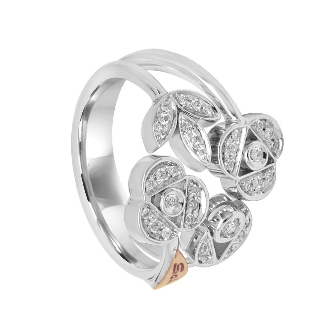 Anello in oro bianco con diamanti mis 15 - SALVINI