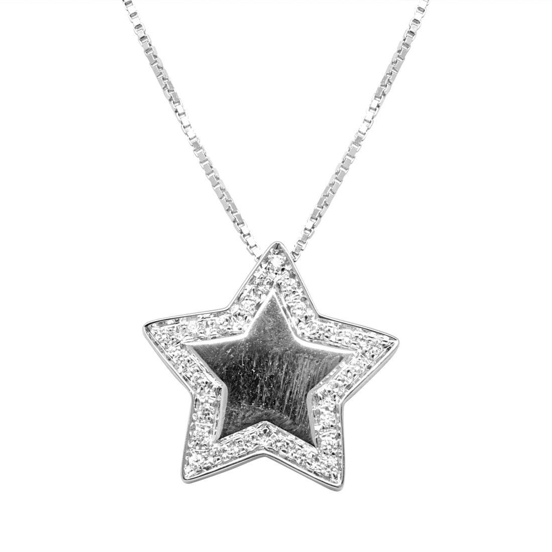 Collana in oro bianco con pendente stella - SALVINI