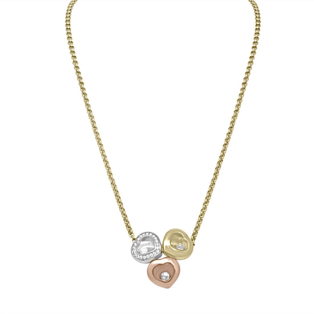 Collier tre ori e diamanti - CHOPARD