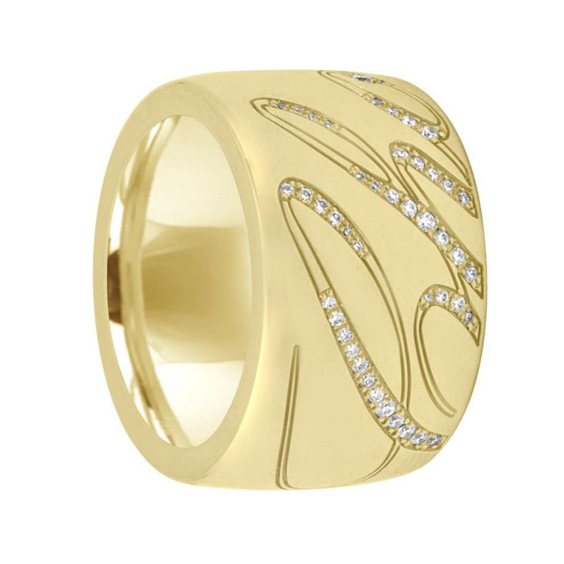 Anello in oro giallo con diamanti. Misura 13 - CHOPARD