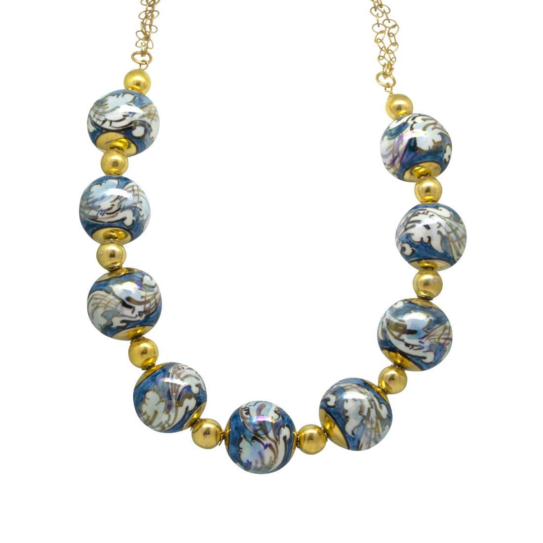 Collana in argento con perle - LE PERLE DI CALTAGIRONE