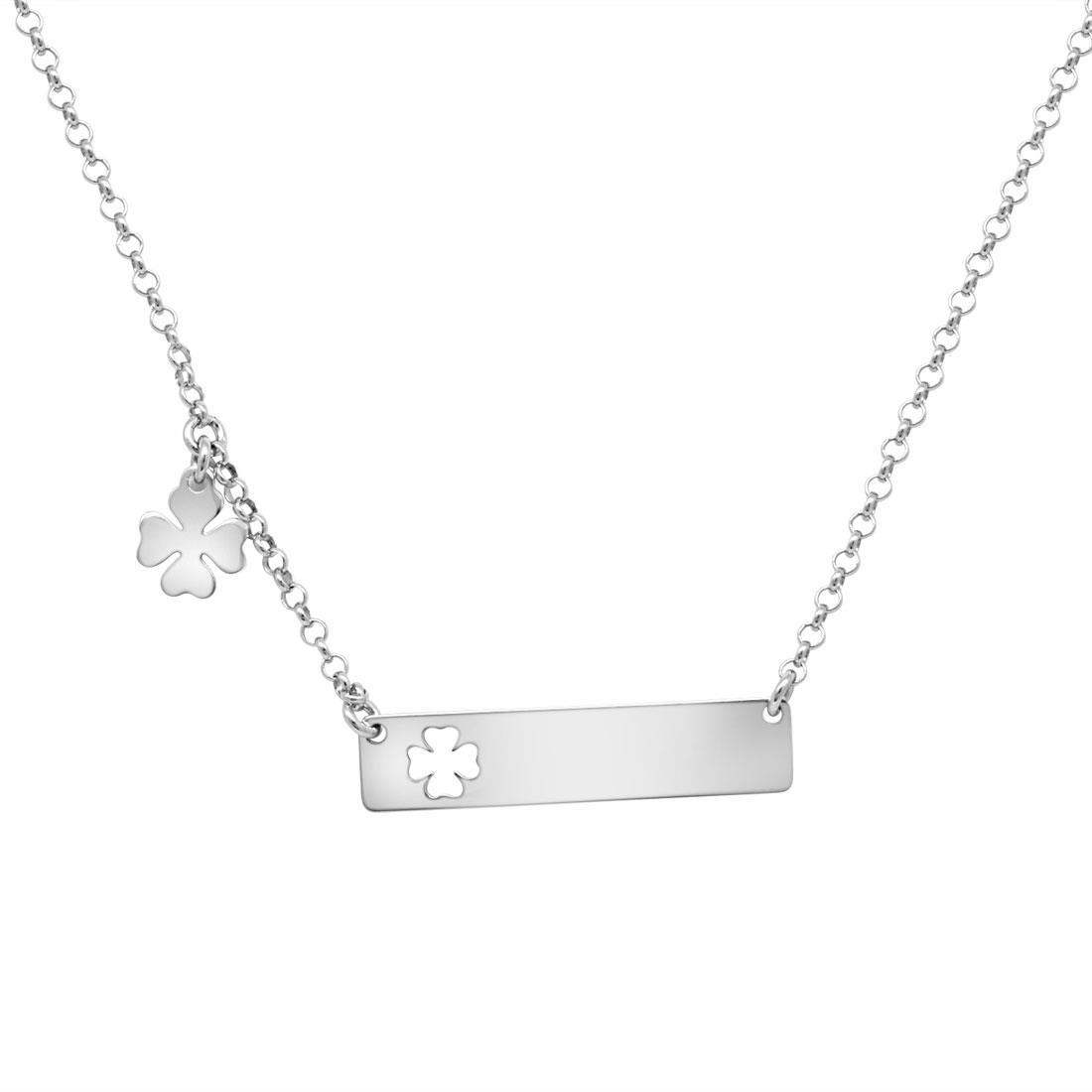 Collana in argento con quadrifoglio - ORO&CO