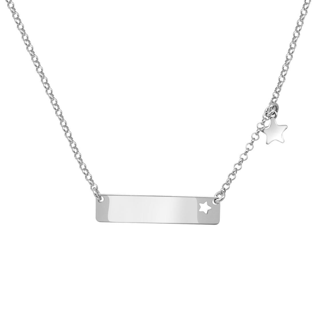Collana in argento con piastrina - ORO&CO 925