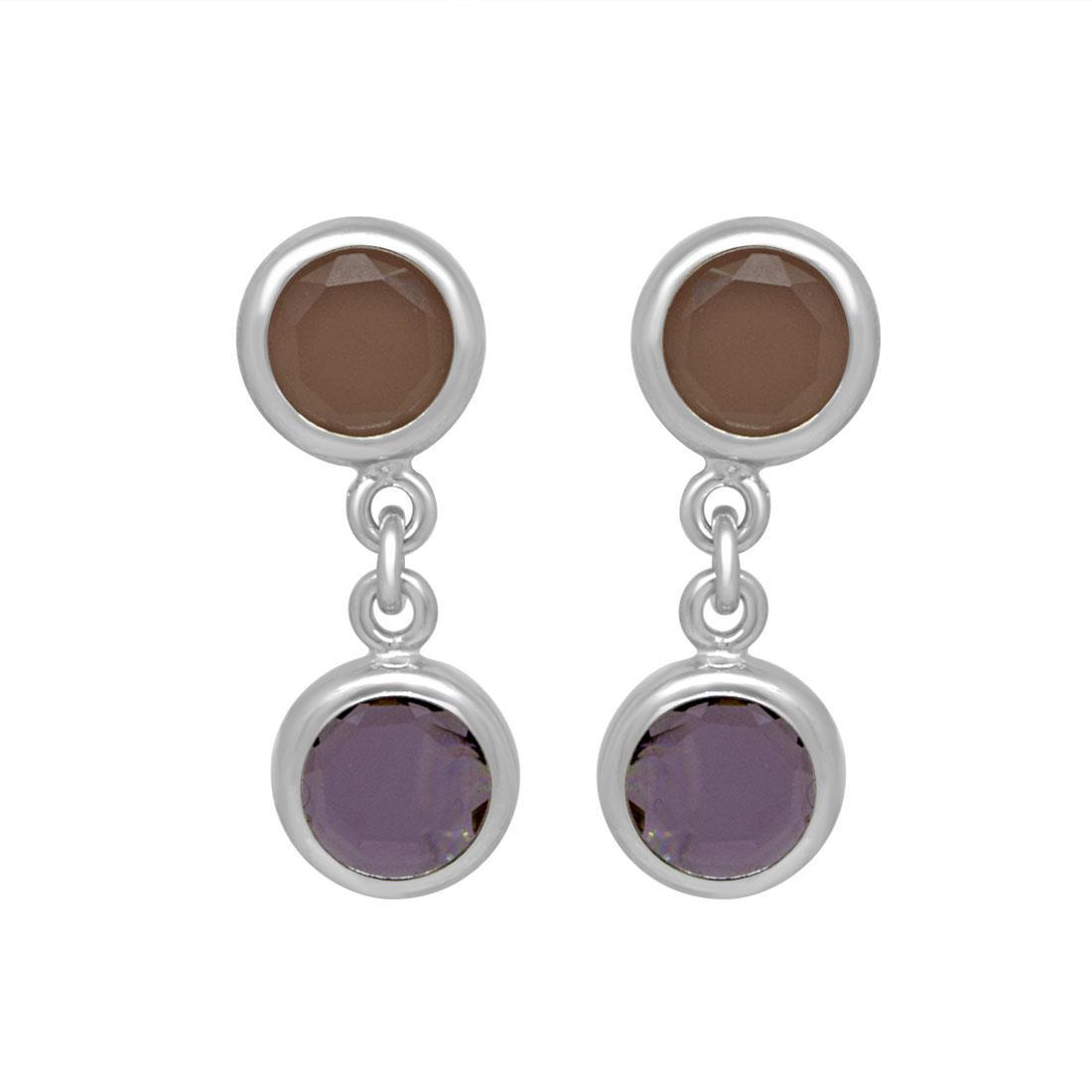 Orecchini in argento con pietre colorate - ZOCCAI