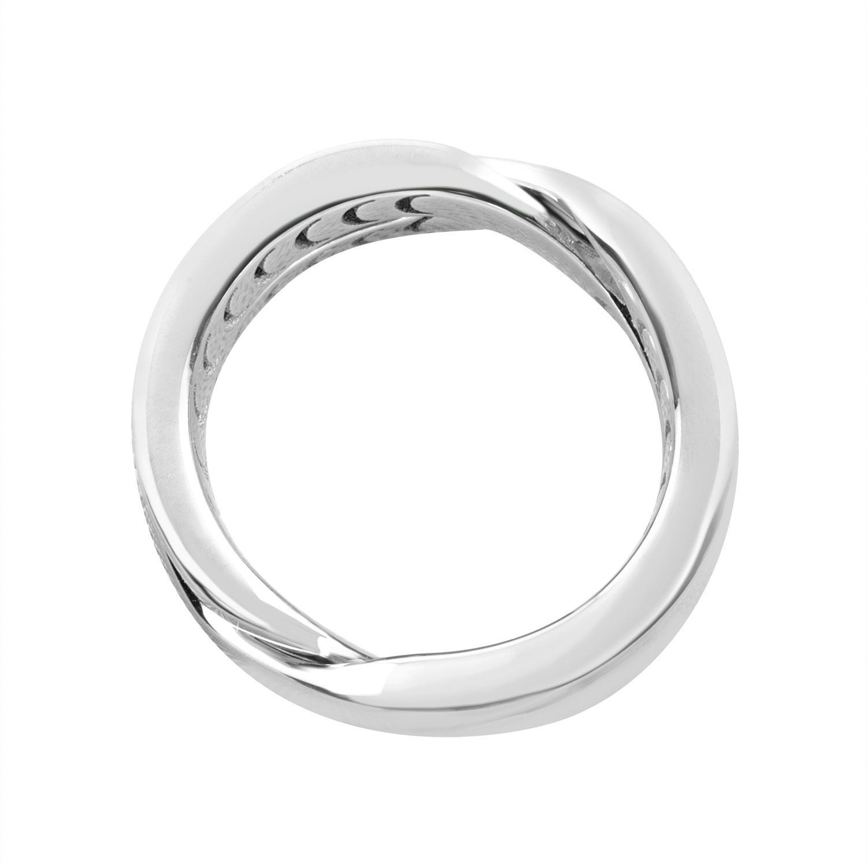 Anello design in oro bianco con diamante ct 0.006 mis 16 - DAMIANI
