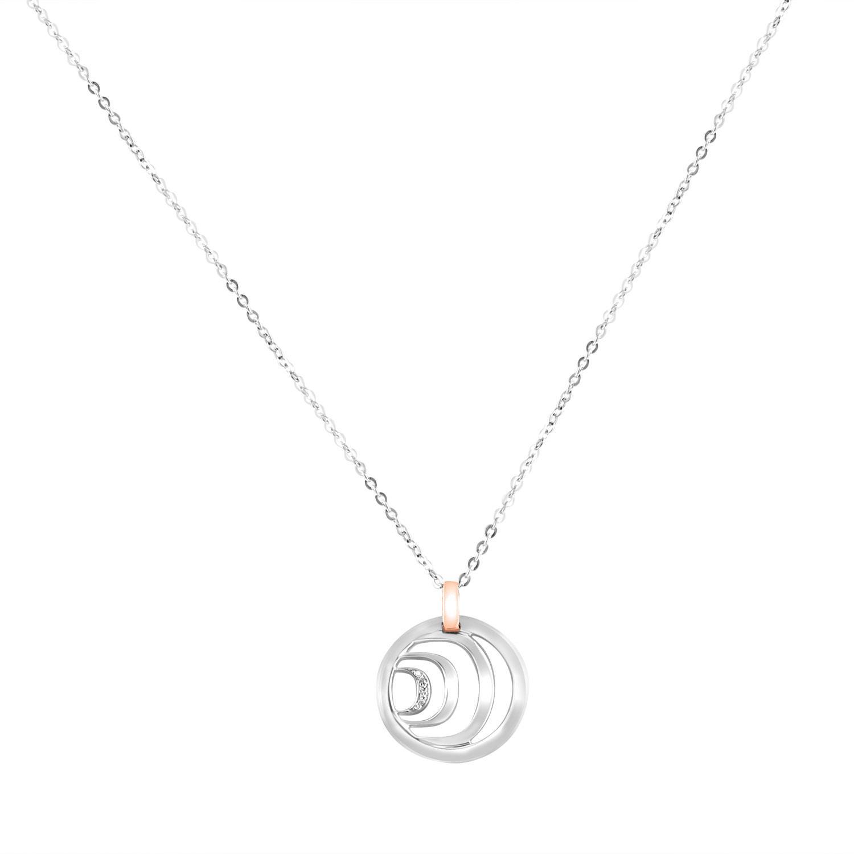 Collana con pendente design in oro bianco e diamanti ct 0.032 - DAMIANI