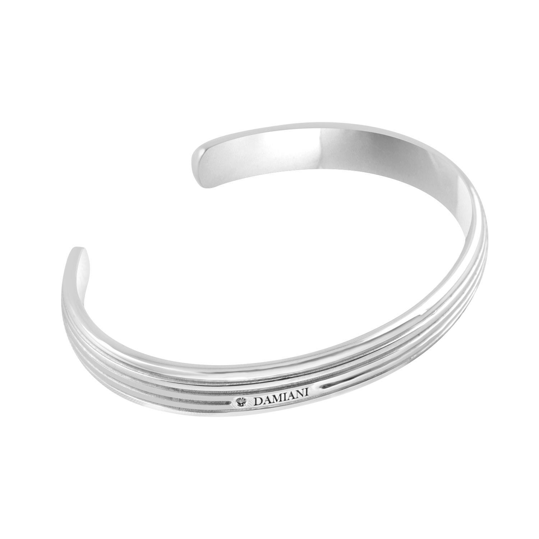 Bracciale rigido in argento con diamante - DAMIANI