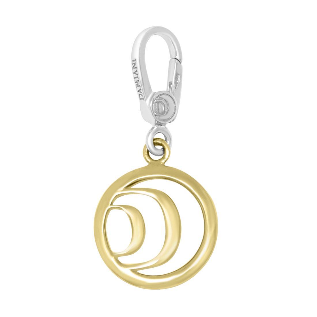 Ciondolo in oro bianco e giallo con diamante ct 0.01 - DAMIANI