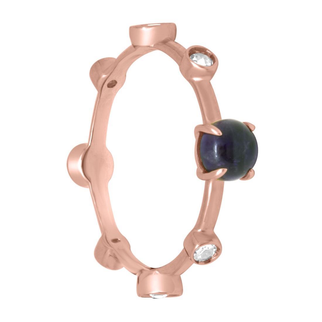 Anello in oro rosa con diamanti ct 0.23 e ametista, misura 16 - DAMIANI