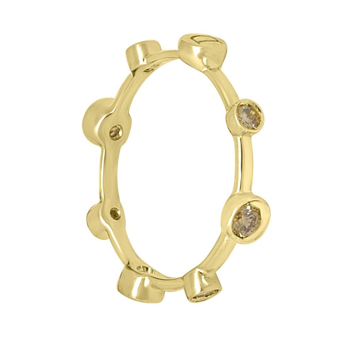 Anello in oro giallo con diamanti ct. 0,40 - DAMIANI