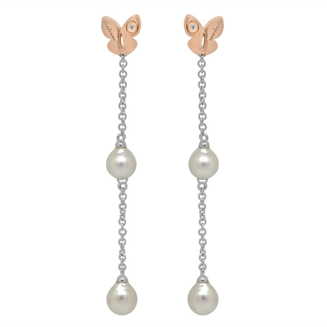 Orecchini pendneti con perle - SALVINI