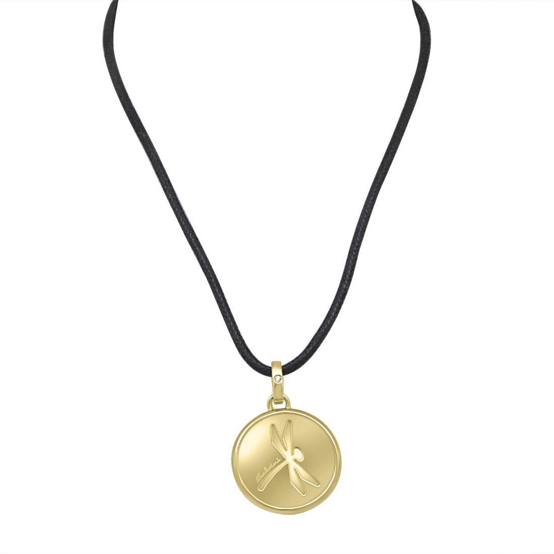 Collana in oro giallo con diamante ct 0.007, lunghezza 60cm - SALVINI