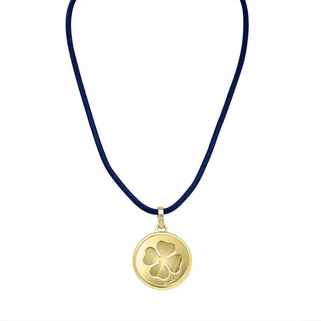 Collana in oro giallo con diamante ct 0.007, lunghezza 60 cm - SALVINI