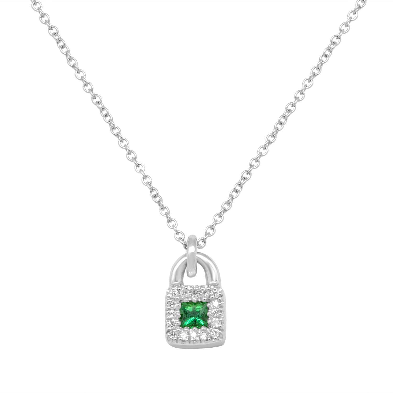 Collier in oro bianco con smeraldo - SALVINI