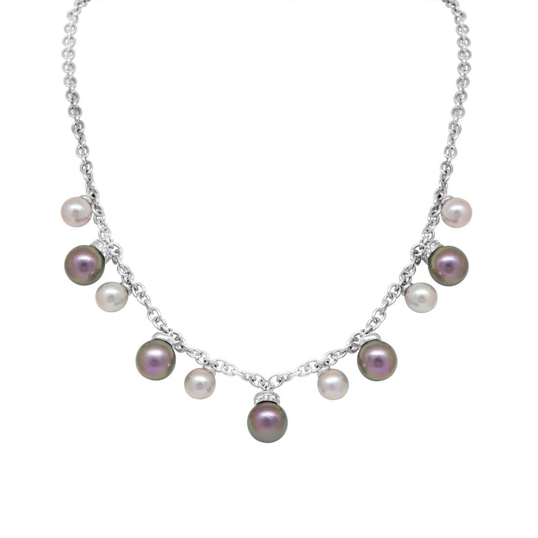 Collier con perle e diamanti - SALVINI