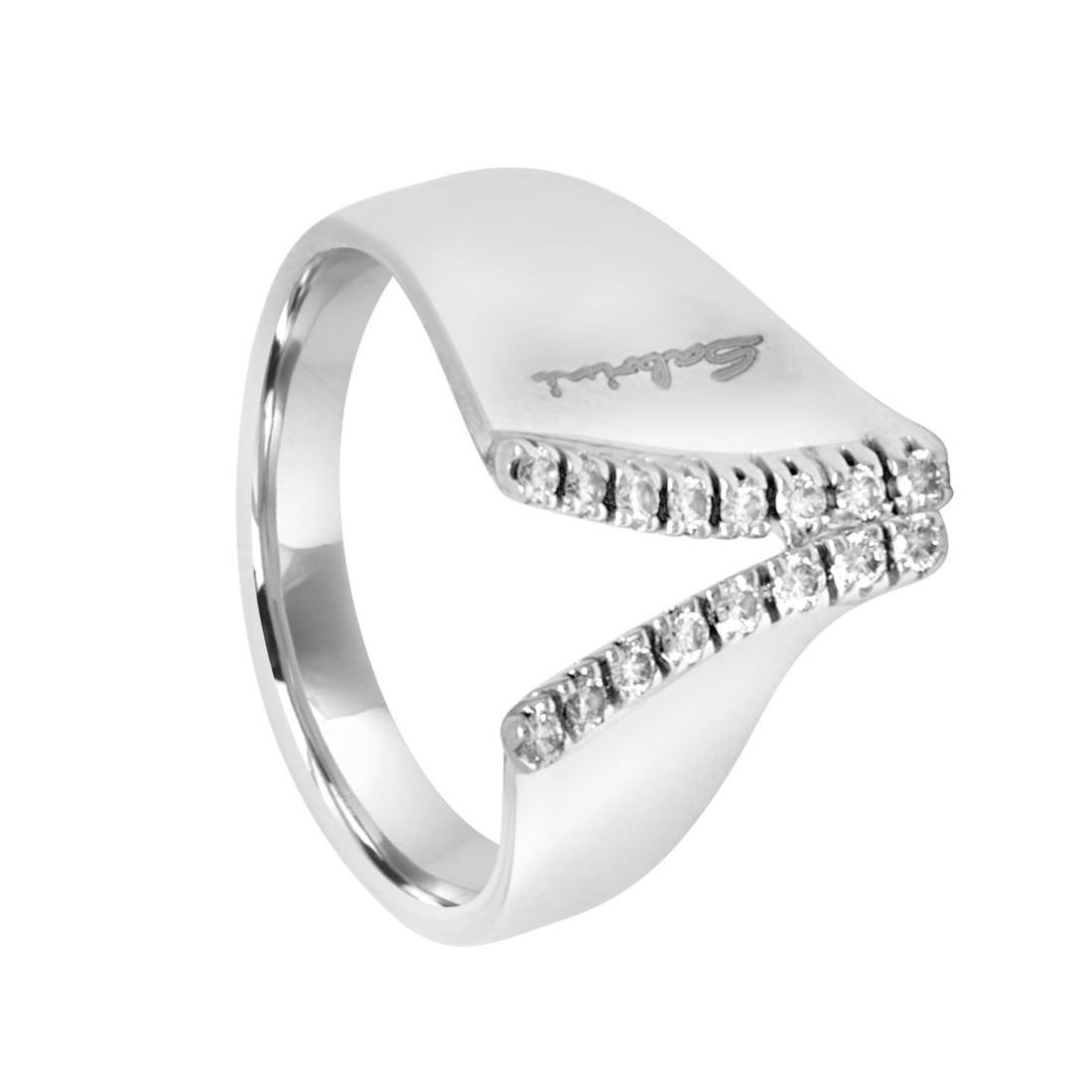 Anello in oro bianco con diamanti - SALVINI