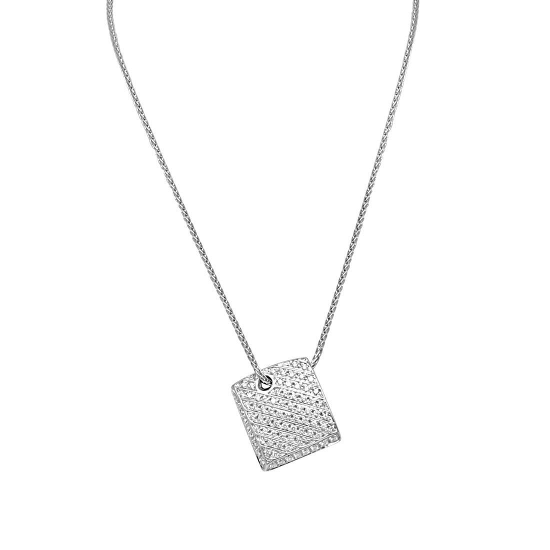 Collana in oro bianco, con pendente in diamanti - SALVINI