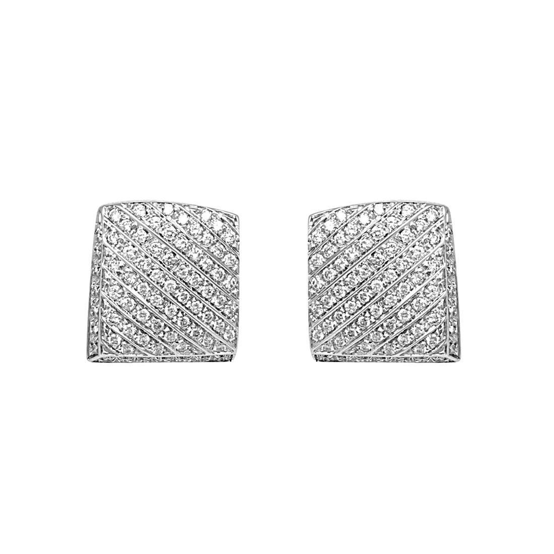 Orecchini in oro bianco con diamanti - SALVINI