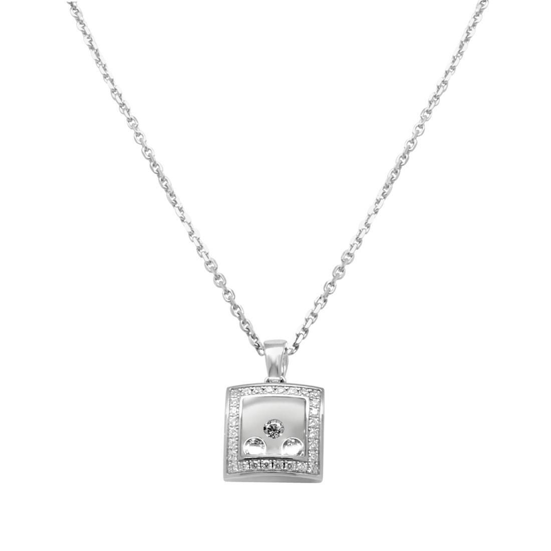 Collier in oro bianco con diamanti - CHOPARD