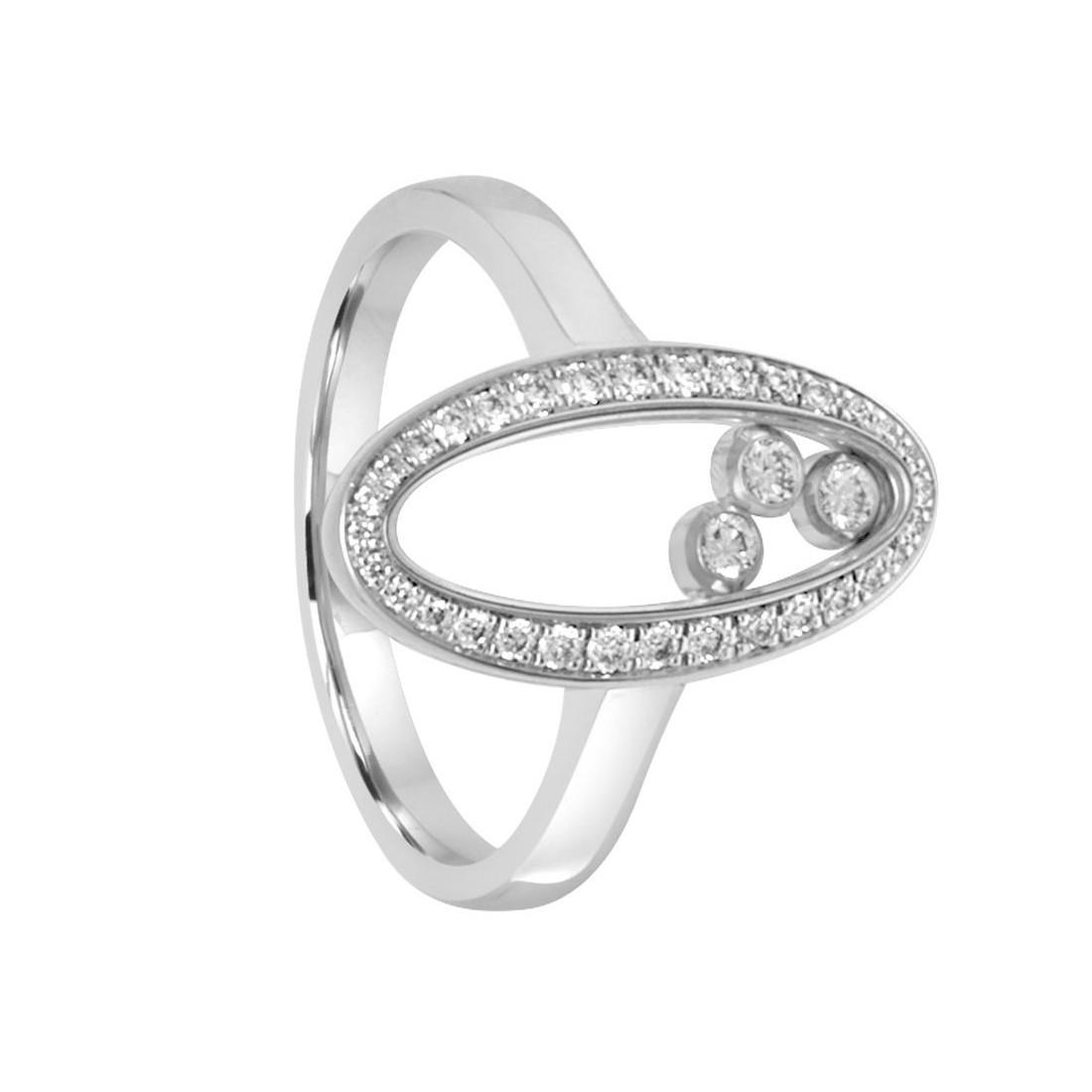 Anello Chopard in oro bianco e diamanti - CHOPARD