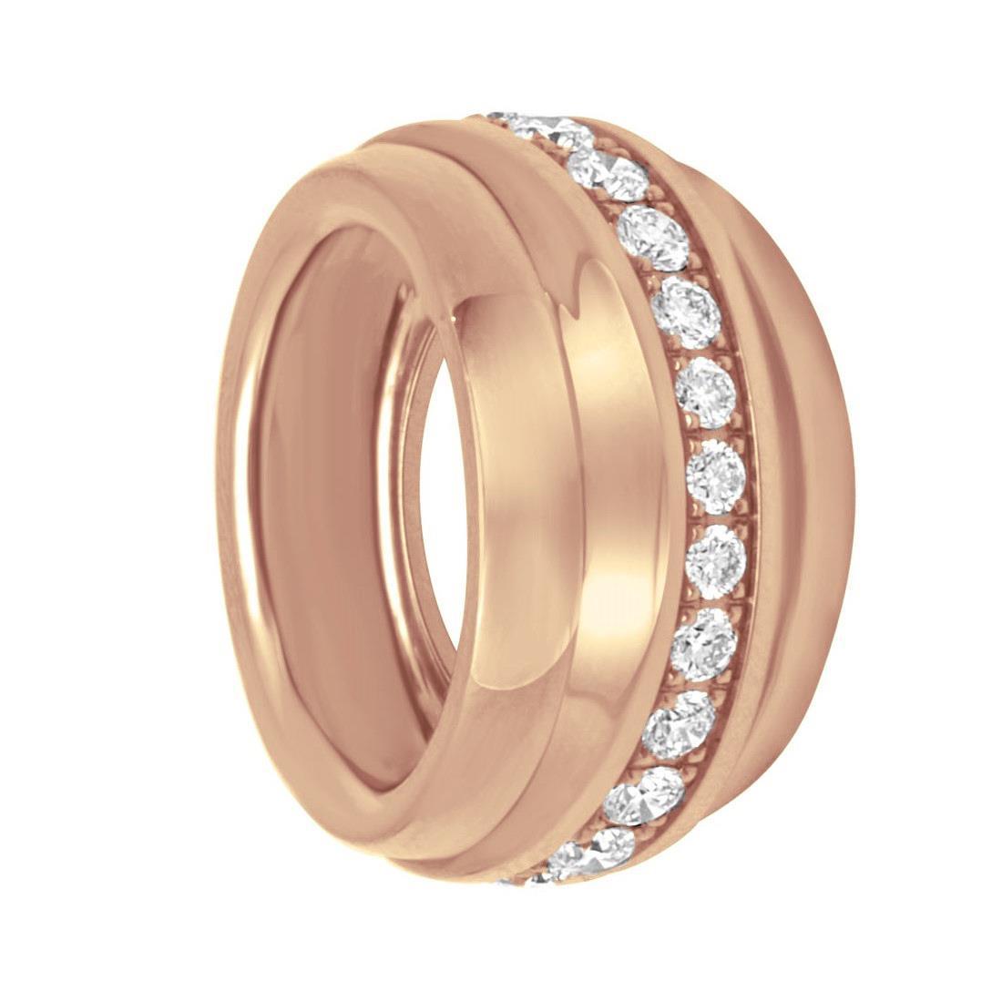 Anello Chopard in oro rosa e diamanti, misura 13 - CHOPARD