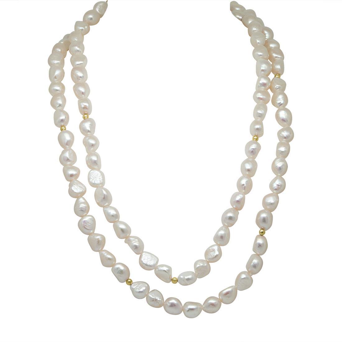 Collana lunga di perle  - RIVIK