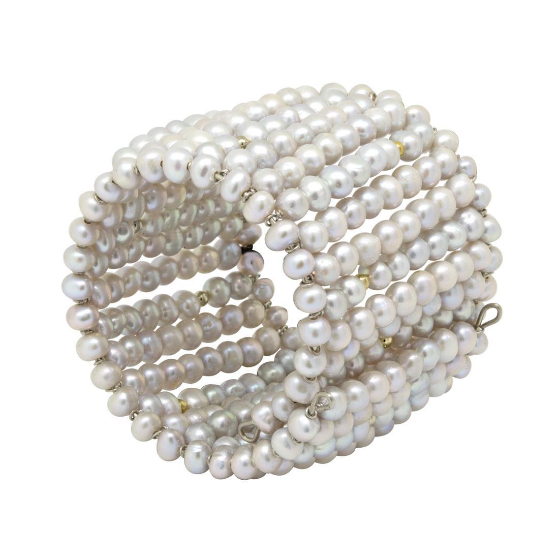 Bracciale rigido con perle - RIVIK