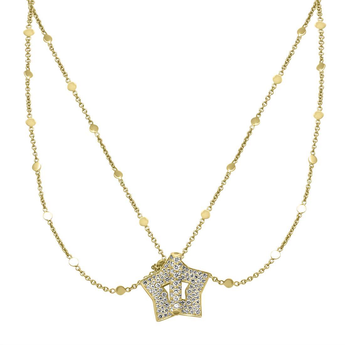 Collana in oro giallo con stella in diamanti - PASQUALE BRUNI